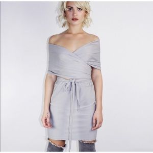 Other - Silver Gray Two Piece Skirt Set
